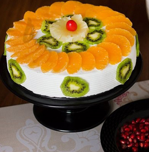 Kiwi and Orange Fruit Cake