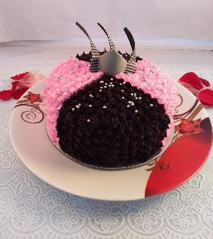 Choco-Strawberry Fushion Cake