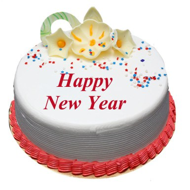 New Year Theme Special Cake