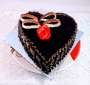 Special Heart Shape Chocolate Truffle Cake Eggless