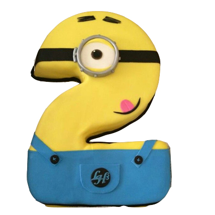 2kg Minion Number Cake