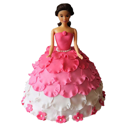 Barbie in Petals Cake 2kg
