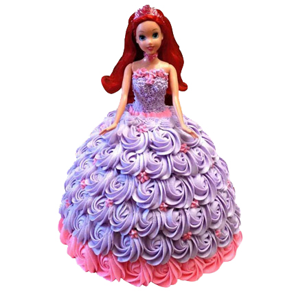 Barbie in Roses Cake 2kg
