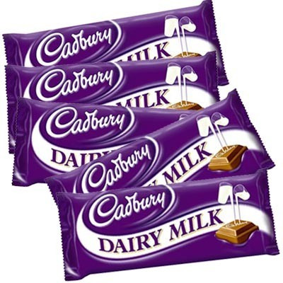 5 Cadbury Dairy Milk Chocolates